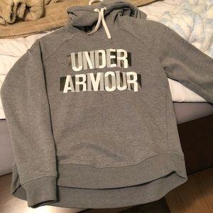 XS gray women's under armour hoodie